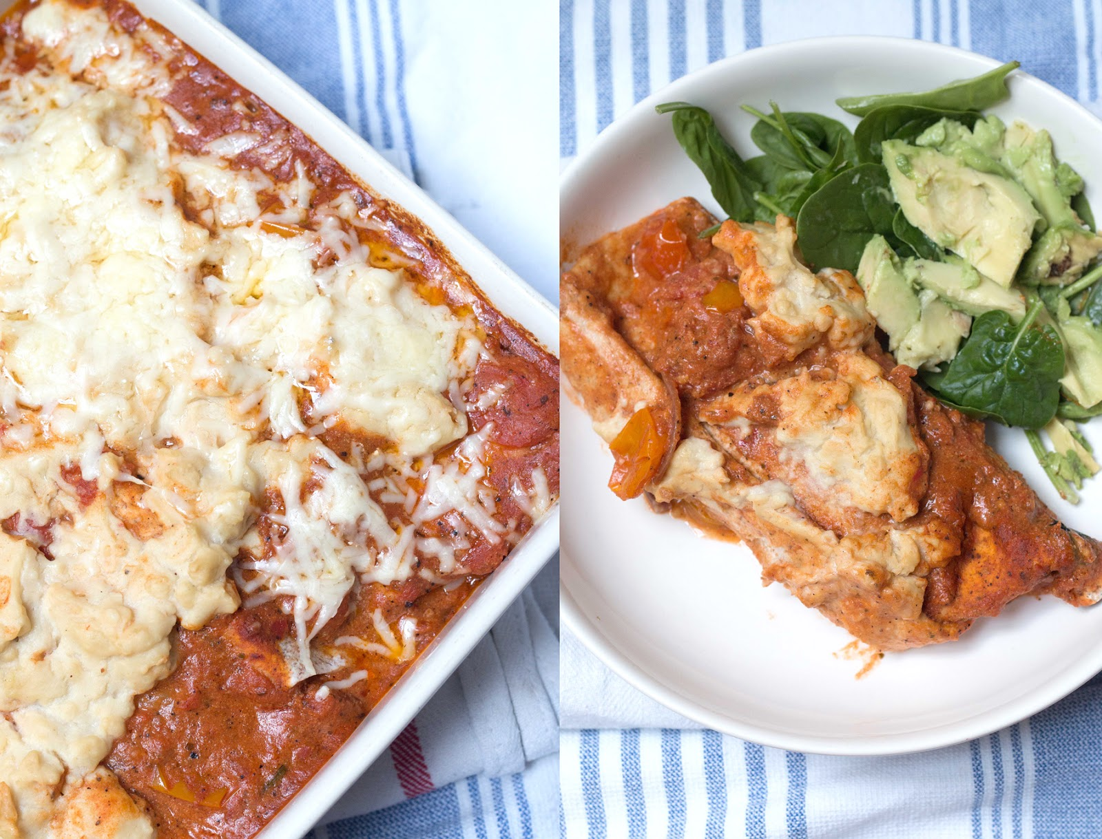 MOROCCAN HARISSA SWEET POTATO ENCHILADAS