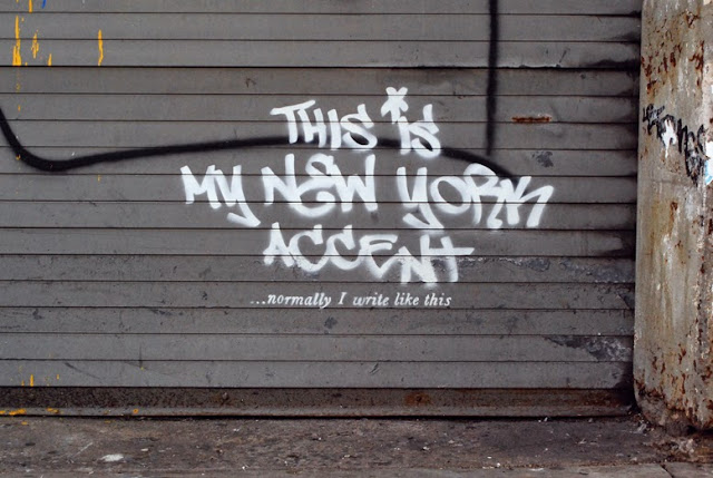 "Banksy ""This Is My New York Accent"" New Street Art Piece For ""Better Out Than In"" Project In New York City. 1"