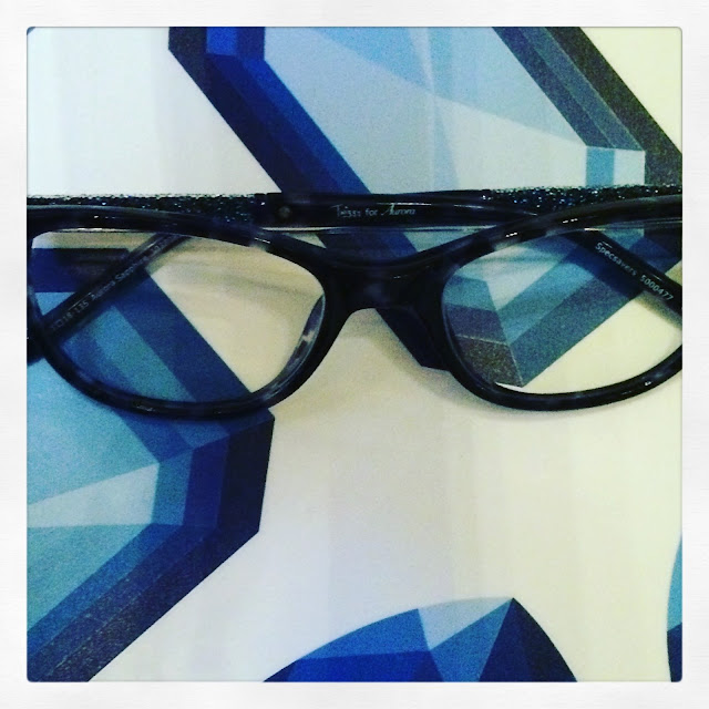 Sapphire glasses from Twiggy's range for Aurora at Specsavers