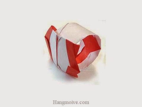Cách gấp, xếp cái nhẫn bằng giấy origami - Video hướng dẫn xếp hình đồ thời trang - How to fold a Ring