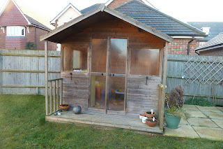 Summerhouse in the garden