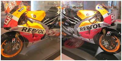 Hondas de MotoGP campeonas del mundo en 2013 y 2014 respectivamente