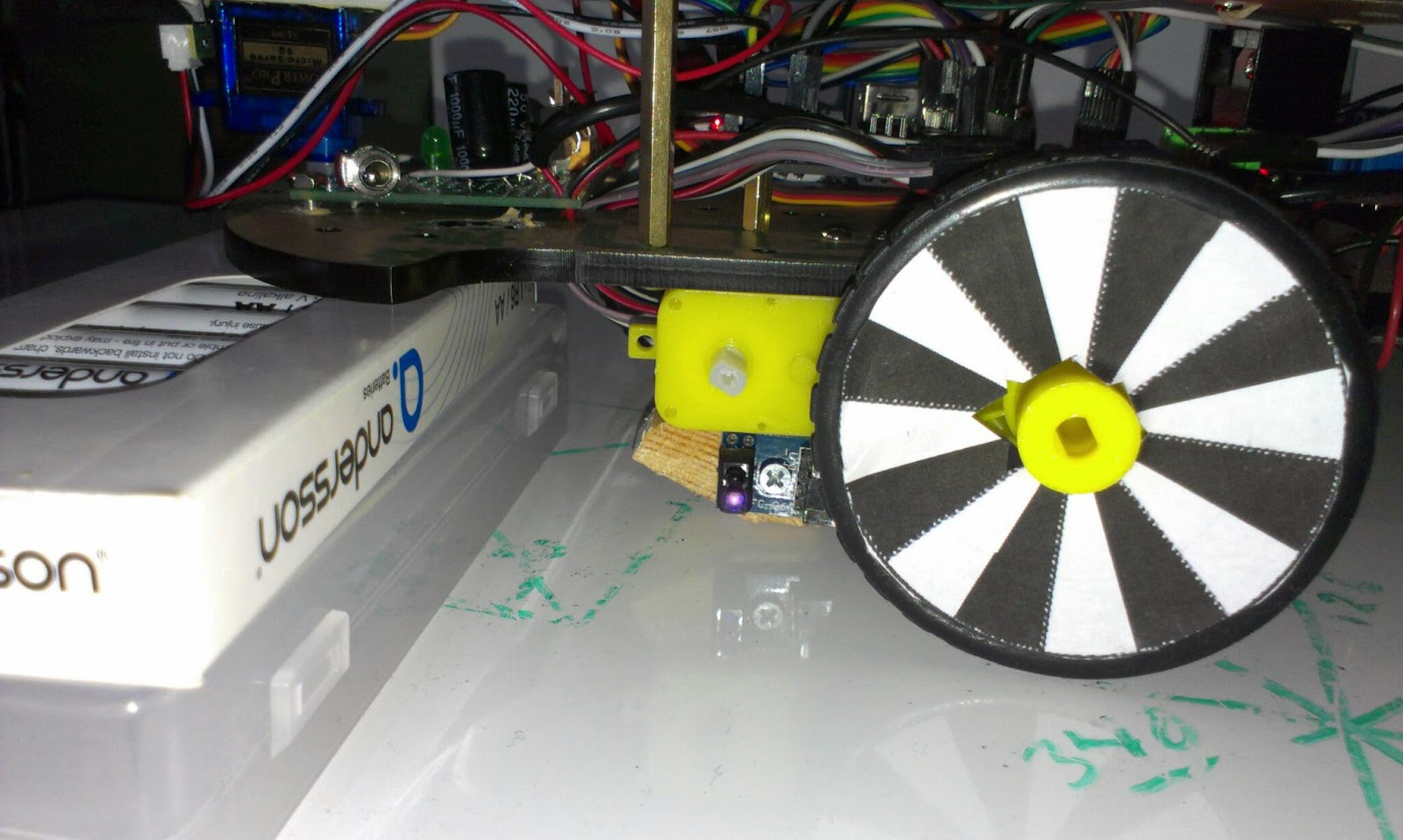 The transparent robot odometry sensor