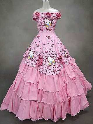 Hello Kitty Cute Wedding Dress Idea