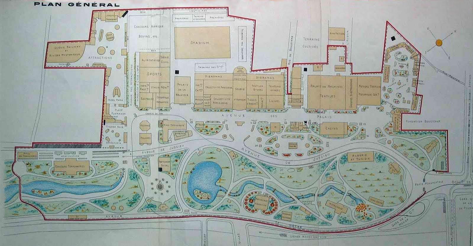 Plan général de l'exposition universelle de Roubaix en 1911
