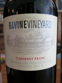 Ravine Vineyard Cabernet Franc 2013 - VQA Niagara Peninsula, Ontario, Canada (88+ pts)