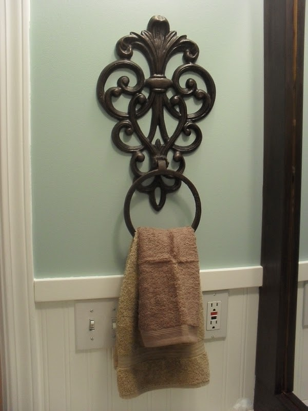 Home frosting while the husband 39 s away - Wrought iron towel racks bathroom ...