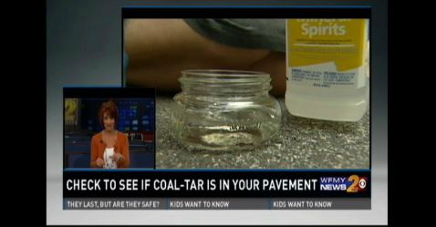 Video of Coffee-Tea Test for Coal Tar Sealants