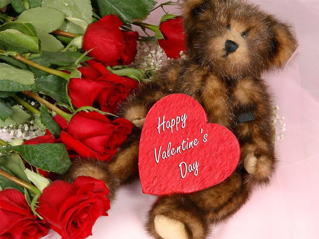 Happy Valentines Day 2014 HD Red flowers wallpapers images