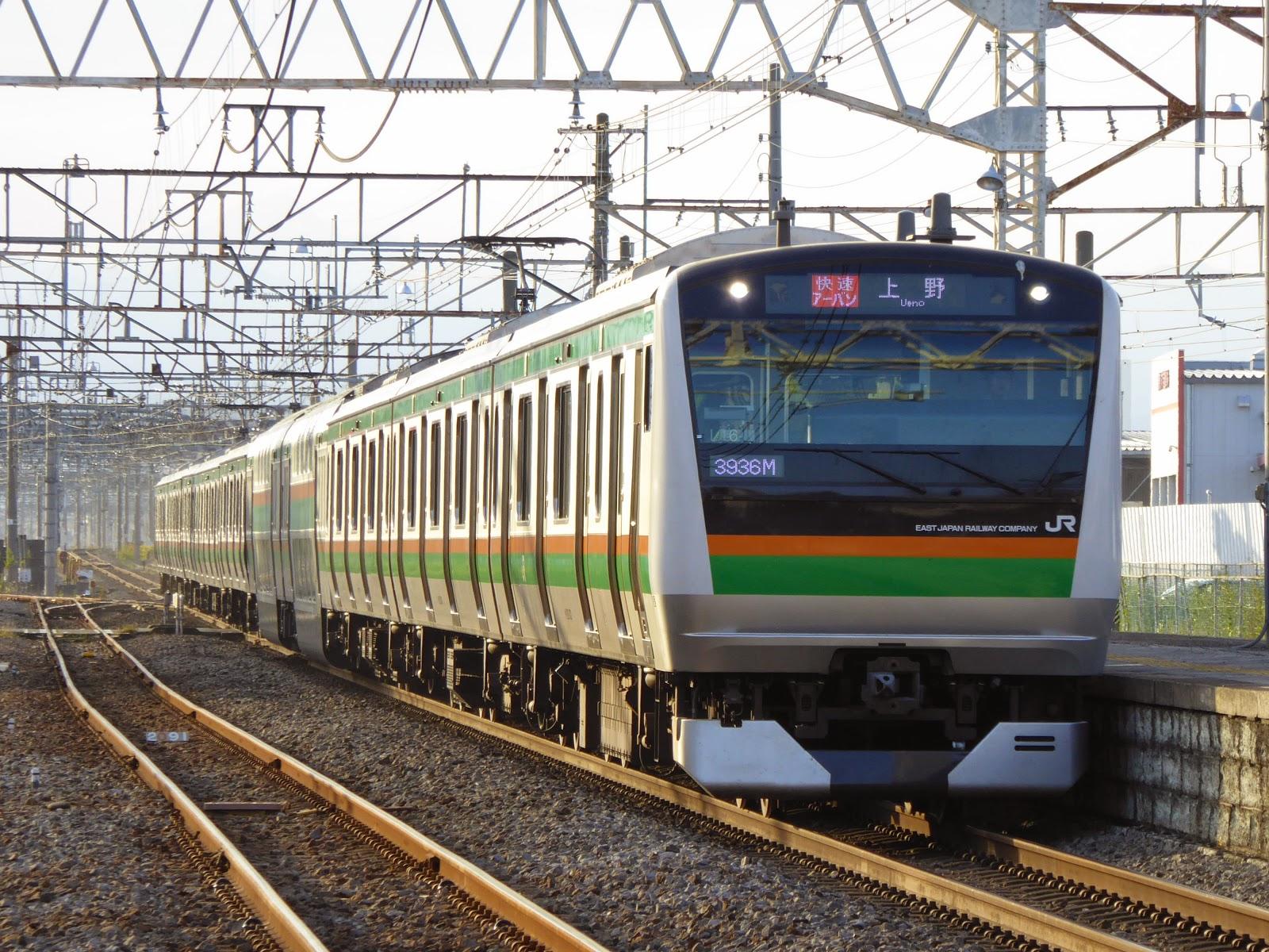 高崎線 快速アーバン 上野行き E233系