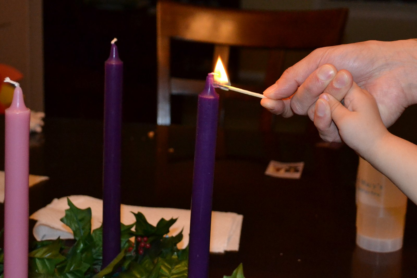 This year weu0027ll probably light them for dinner for most of the rest of the days of Advent. I got smarter this year and bought bigger candles that will ... & Advent in Our Home by Grete Veliz azcodes.com