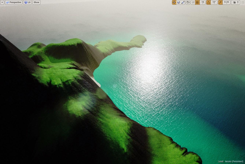 Island landscape result 1