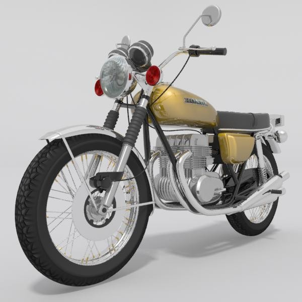 Ulhas Shinde Old Honda Motorcycle 3d