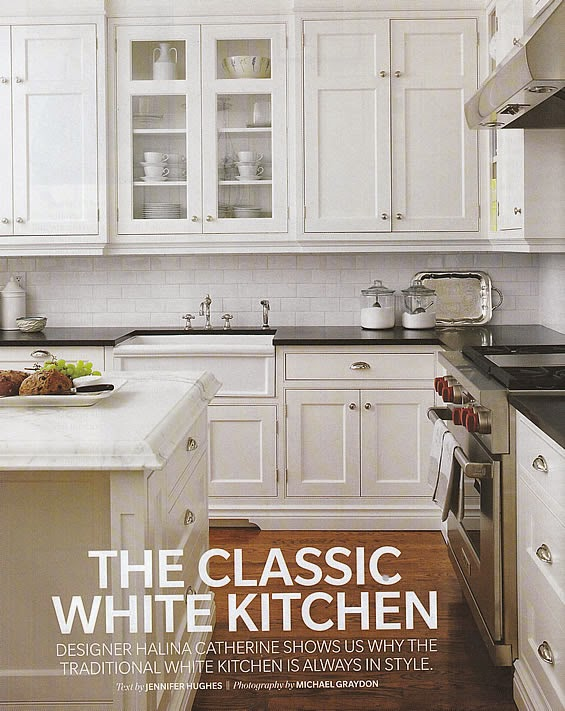 classic kitchen white cabinets black countertops