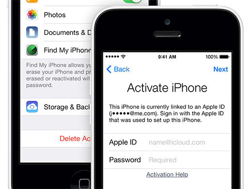 Remove iCloud lock activation