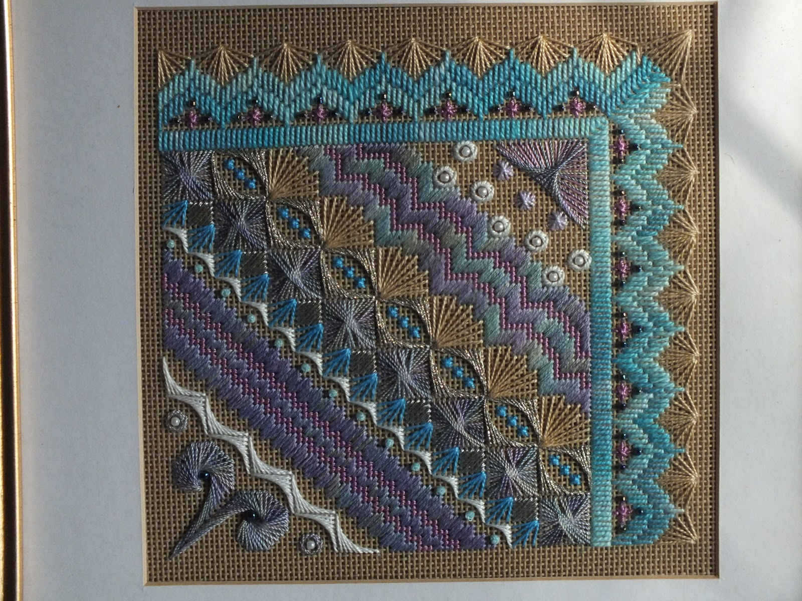 ELLA39S CRAFT CREATIONS Surf And Sand Canvaswork Embroidery