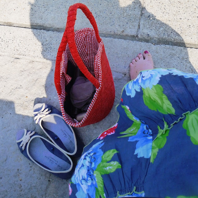 Red Handbag and Shoes