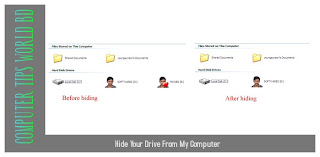 hide your drives from my computer for privacy