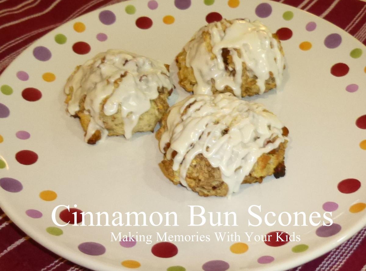 Cinnamon Bun Scones - Making Memories With Your Kids