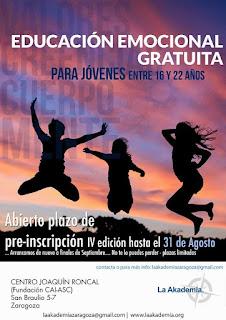 Educación Emocional Gratuita en la IV Edición de la Akademia Zaragoza