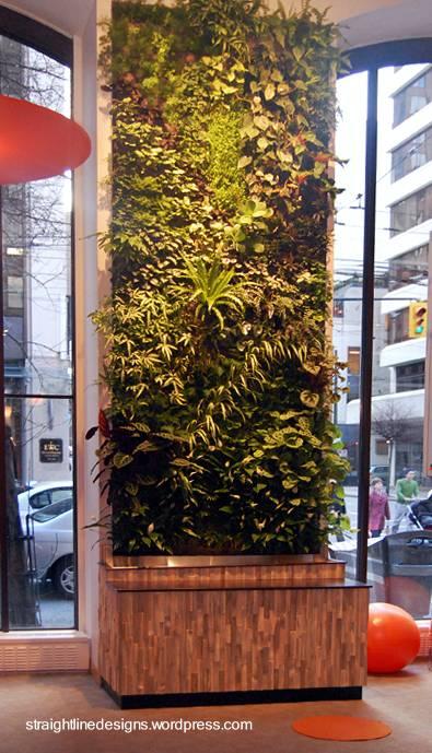 Arquitectura de casas jardines verticales en interiores for Jardin vertical interior