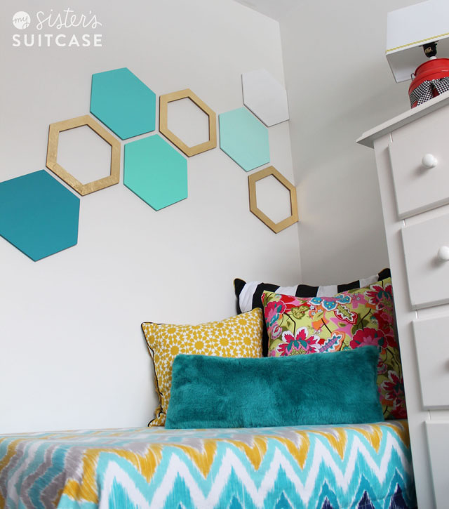 Easy Hexagon Wall Treatment - My Sisteru0027s Suitcase - Packed with Creativity  sc 1 st  My Sisteru0027s Suitcase : diy wall art for guys - www.pureclipart.com