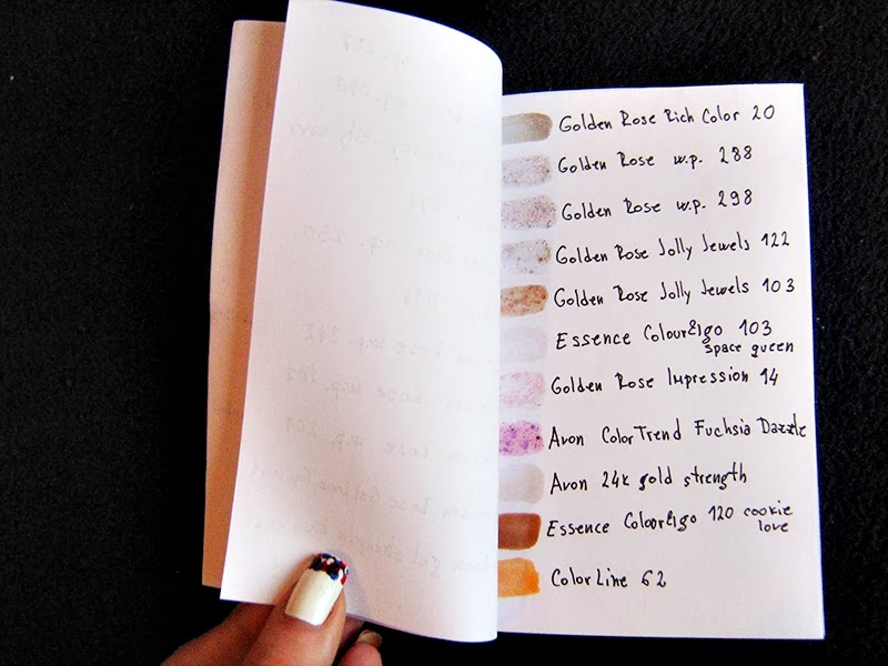 DIY Nail Polish Swatch Book