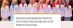 BIODATA MAHASISWA APOTEKER ANGKATAN XXII STIFI PERINTIS PADANG