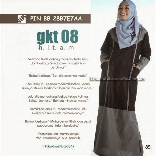 Gamis Sik Clothing GKT 08 Hitam