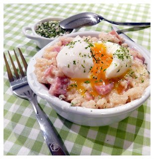 Risotto oeuf -bacon