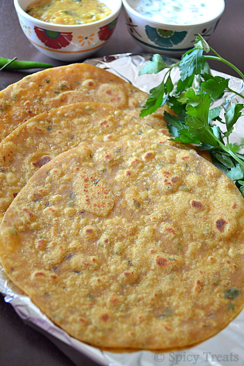 Tofu Masala Paratha