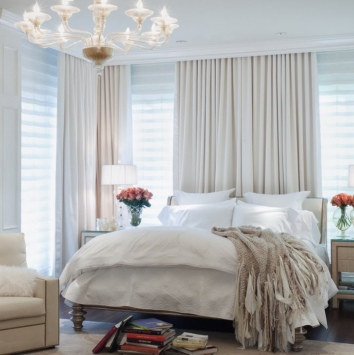 White Bedroom with Curtains