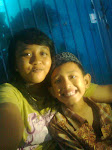 w/ my brother