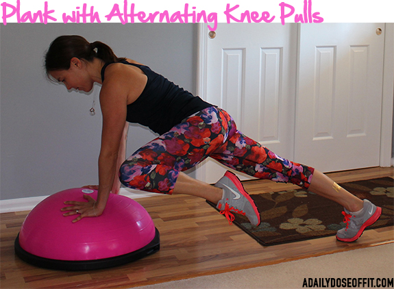 BOSU exercise, core exercise, pink bosu, sweatpink, fitfluential, fitapproach