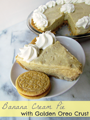 Recipe: Banana cream pie with golden Oreo crust