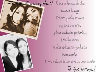 Te+amo+hermana Tarjetas e imagenes de Feliz cumpleaños..
