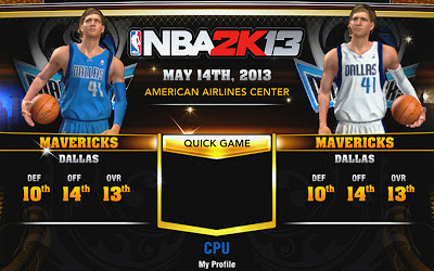 NBA 2K13 Mavericks Accessories Fix