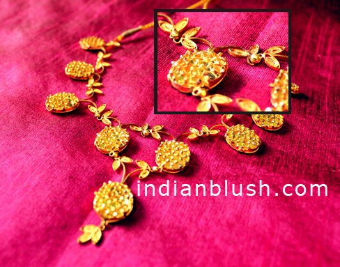 designer 24k gold necklace