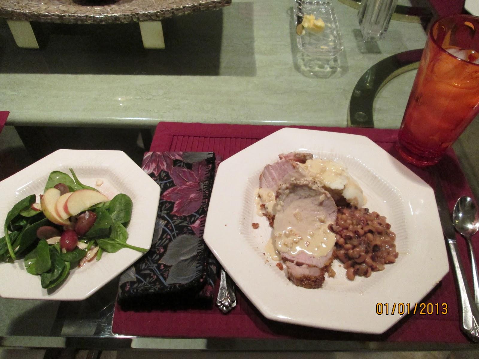 pork tenderloin with pepper rubbed pork loin with thyme roasted pork ...