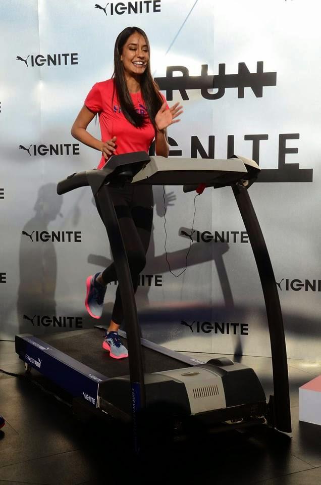 Lisa Haydon at Puma Fitness' press meet