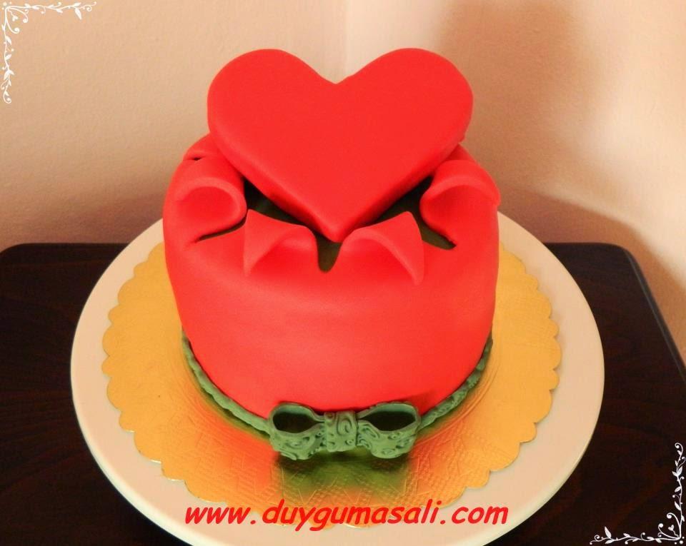 edirne romantik aşk pasta