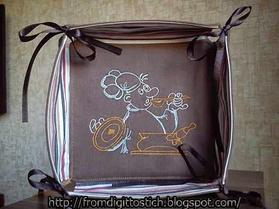 текстильная конфетница
