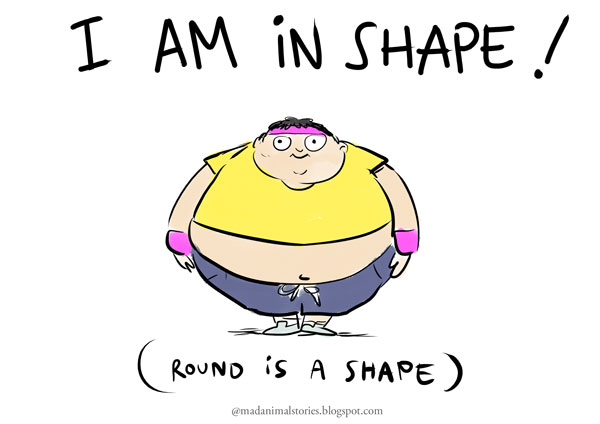 i am in shape round is a shape