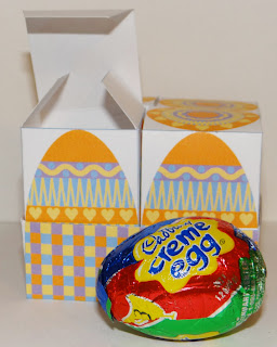 Printable box for Cadbury Creme Eggs