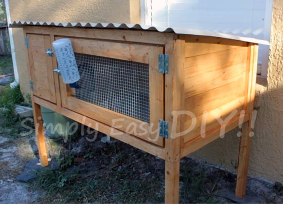 Simply easy diy diy rabbit hutch design 2 - How to make a rabbit cage ...