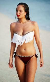 Tulisa Contostavlos Red Bikini Dubai Beach