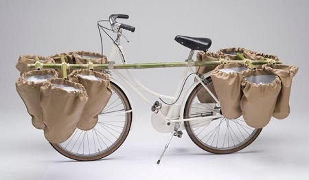 Accesorio de Bambu para Bicicletas, Soluciones para Transporte de Paquetes