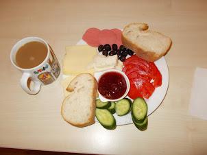 "Delicious ""Turkish breakfast"" at ""Noahs Hostel"" in Istanbul."
