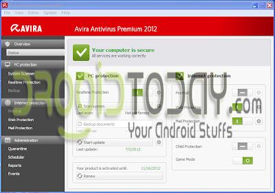 Key Avira AntiVir Premium Update 2 Juli 2012
