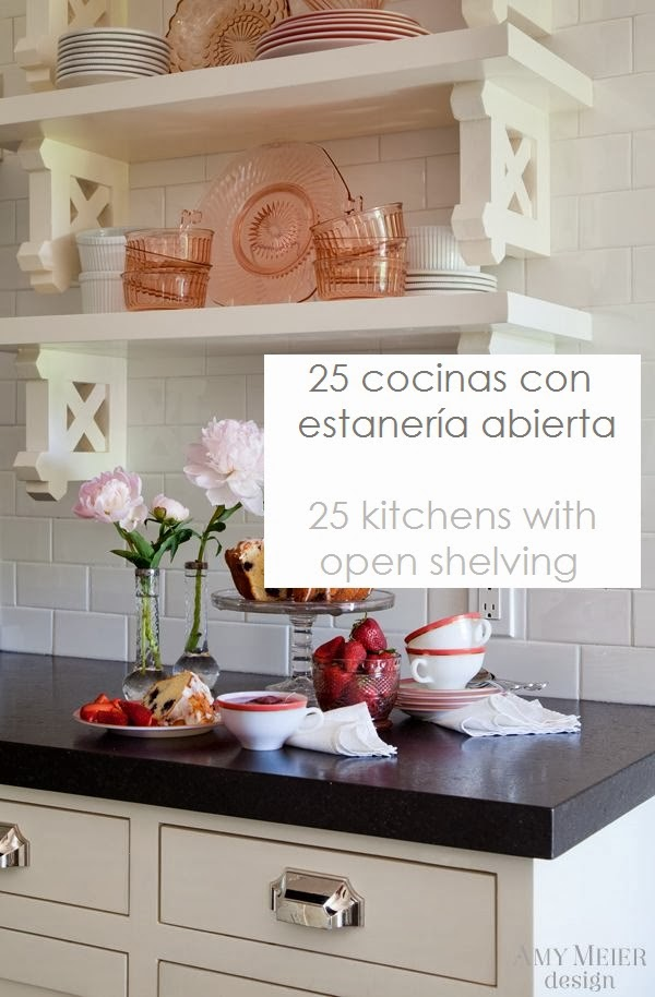 Pabla en casa estanter a abierta en la cocina - Estanteria cocina ...